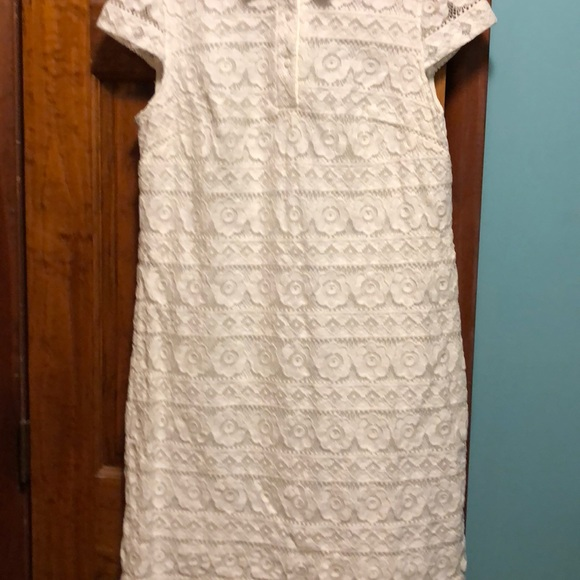 Betsy Johnson White Lace Dress Size 12 Cap Sleeve